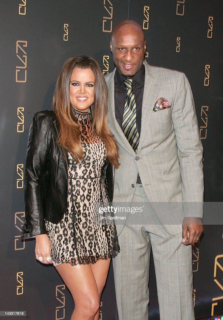 Khloe Kardashian and Lamar Odom attend the grand opening of RYU on April 23, 2012 in New York City.