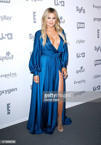 Khloe Kardashian appears during the 2015 NBCUniversal Cable Entertainment Upfront at The Jacob K Javits Convention Center on May 14 2015 in New York...