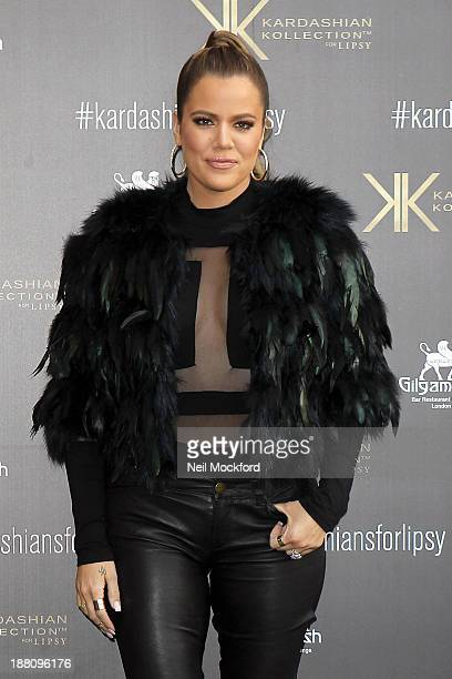Khloe Kardashian arrives at a customer event to promote the Kardashian Kollection for Lipsy at Gilgamesh on November 15 2013 in London England