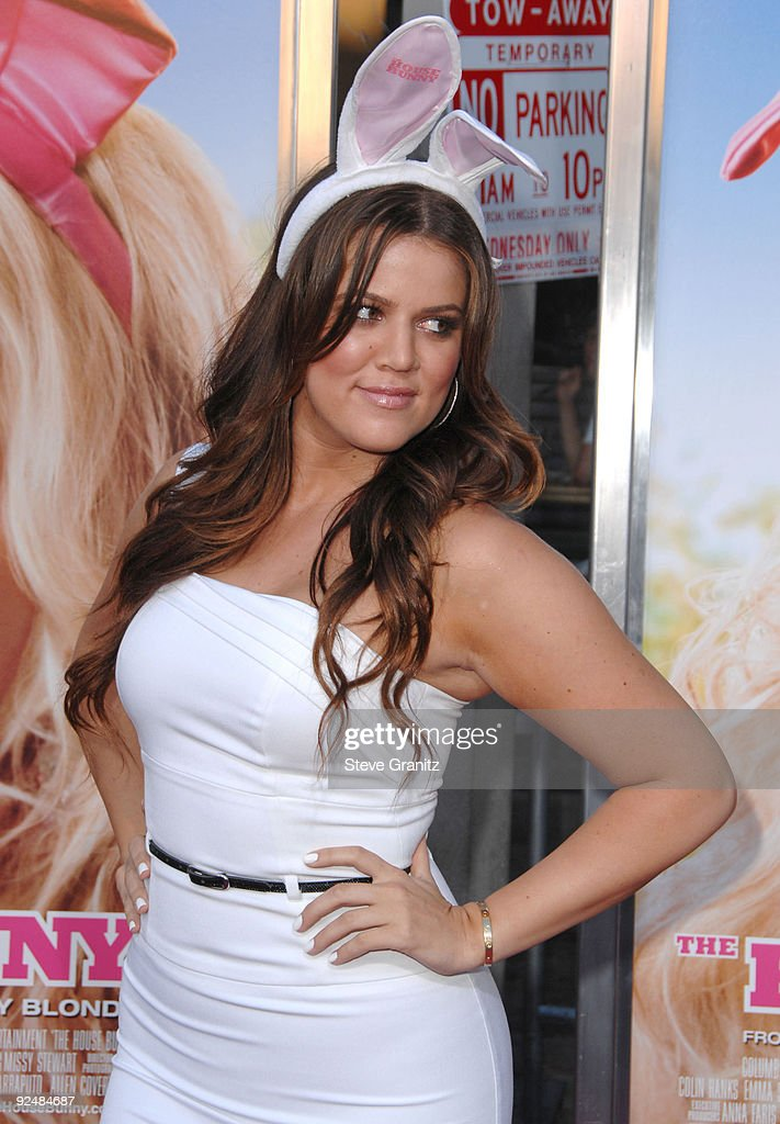 Khloe Kardashian arrives at Sony Pictures' Premiere of 'House Bunny' at the Mann Village Theatre on August 14, 2008 in Los Angeles, California.