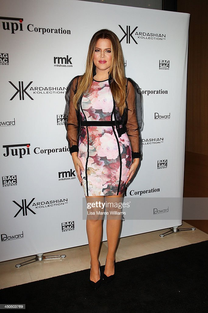 Khloe Kardashian arrives at the Kardashian Kollection cocktail party at the Park Hyatt Guest House on November 19, 2013 in Sydney, Australia.