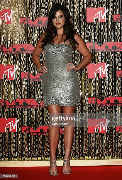 Khloe Kardashian arrives at the MTV Australia Awards 2008 at the Australian Technology Park Redfern on April 26 2008 in Sydney Australia This year's...