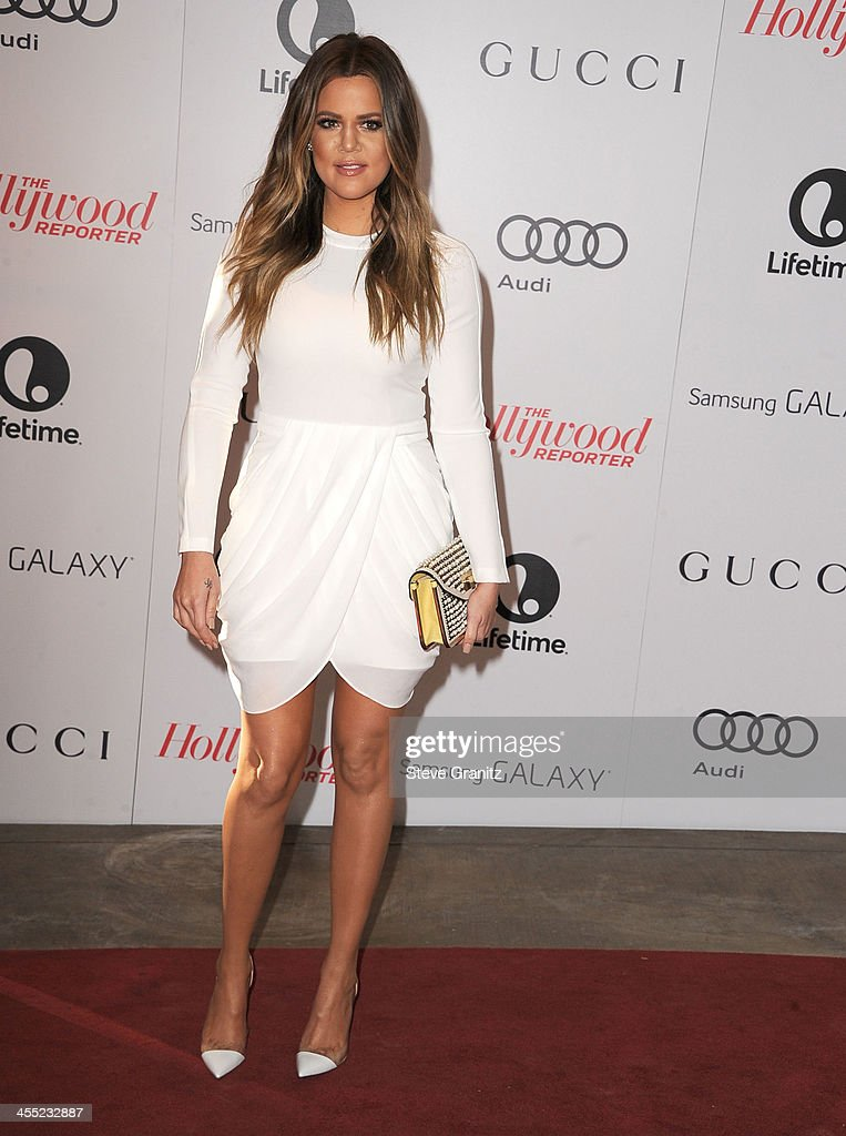Khloe Kardashian arrives at the The Hollywood Reporter's Women In Entertainment Breakfast Honoring Oprah Winfrey at Beverly Hills Hotel on December 11, 2013 in Beverly Hills, California.