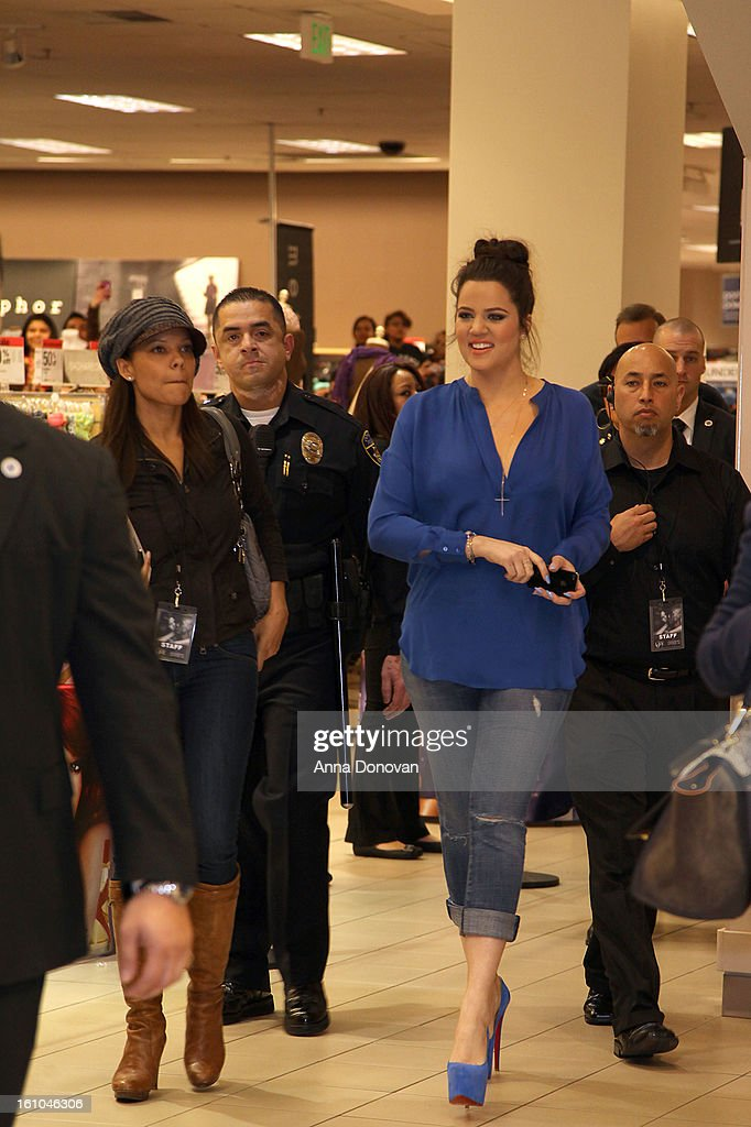 <a gi-track='captionPersonalityLinkClicked' href=/galleries/search?phrase=Khloe+Kardashian&family=editorial&specificpeople=3955023 ng-click='$event.stopPropagation()'>Khloe Kardashian</a> arriving at the 'Unbreakable Love' fragrance launch with <a gi-track='captionPersonalityLinkClicked' href=/galleries/search?phrase=Khloe+Kardashian&family=editorial&specificpeople=3955023 ng-click='$event.stopPropagation()'>Khloe Kardashian</a>-Odom and Lamar Odom at Sears on February 8, 2013 in Downey, California.