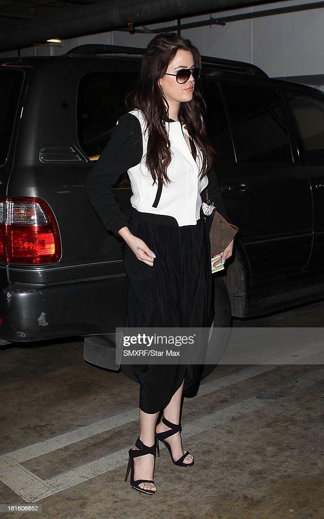 Khloe Kardashian as seen on February 12, 2013 in Los Angeles, California.