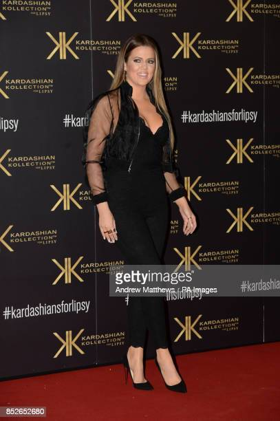 Khloe Kardashian attending the Kardashian Kollection For Lipsy launch party at the Natural History Museum London