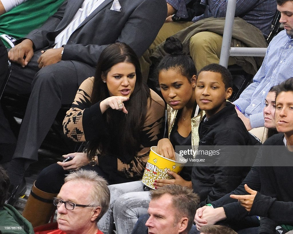 <a gi-track='captionPersonalityLinkClicked' href=/galleries/search?phrase=Khloe+Kardashian&family=editorial&specificpeople=3955023 ng-click='$event.stopPropagation()'>Khloe Kardashian</a> attends a basketball game between the Boston Celtics and the Los Angeles Clippers at Staples Center on December 27, 2012 in Los Angeles, California.