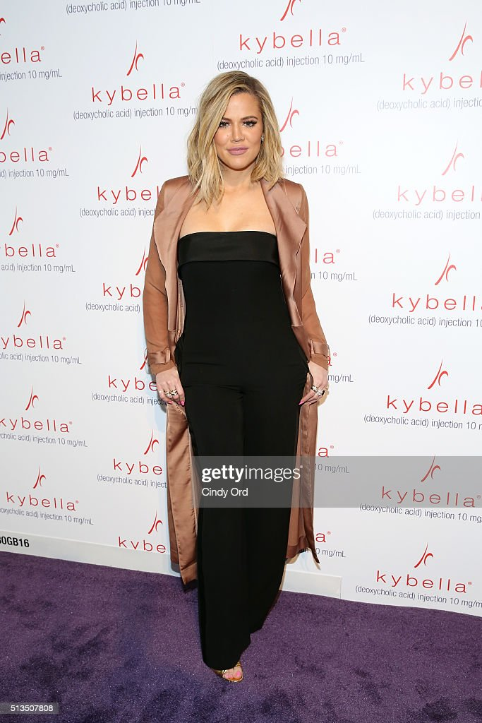 Khloe Kardashian attends Allergan KYBELLA event at IAC Building on March 3, 2016 in New York City.