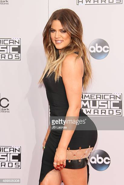 Khloe Kardashian attends the 2014 American Music Awards at Nokia Theatre LA Live on November 23 2014 in Los Angeles California
