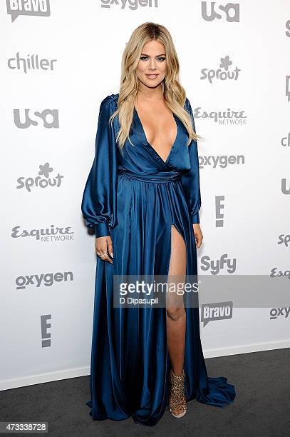 Khloe Kardashian attends the 2015 NBCUniversal Cable Entertainment Upfront at The Jacob K Javits Convention Center on May 14 2015 in New York City