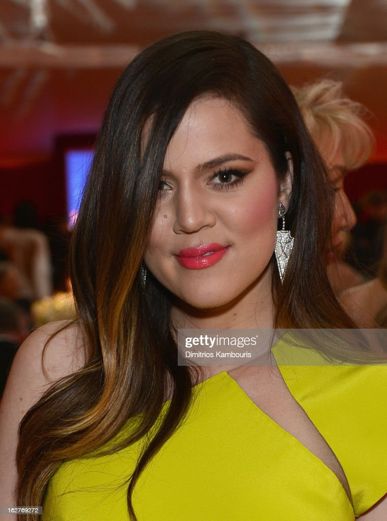 Khloe Kardashian attends the 21st Annual Elton John AIDS Foundation Academy Awards Viewing Party at West Hollywood Park on February 24, 2013 in West Hollywood, California.