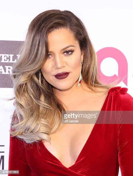 Khloe Kardashian attends the 22nd Annual Elton John AIDS Foundation's Oscar Viewing Party on March 2 2014 in West Hollywood California