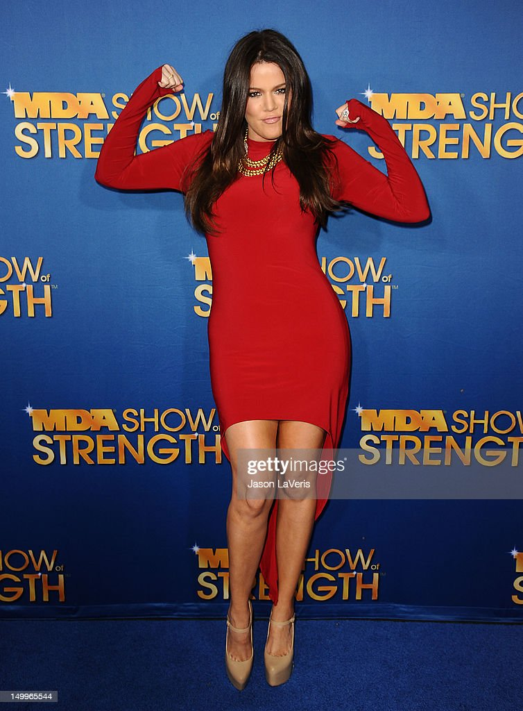 Khloe Kardashian attends the MDA Labor Day Telethon at CBS Studios on August 7, 2012 in Los Angeles, California.