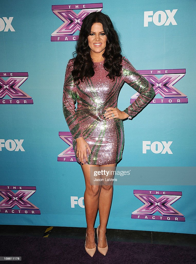 Khloe Kardashian attends the season finale of Fox's 'The X Factor' at CBS Television City on December 20, 2012 in Los Angeles, California.
