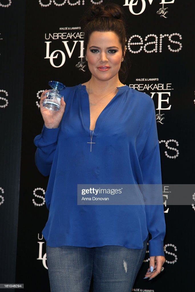 <a gi-track='captionPersonalityLinkClicked' href=/galleries/search?phrase=Khloe+Kardashian&family=editorial&specificpeople=3955023 ng-click='$event.stopPropagation()'>Khloe Kardashian</a> attends the 'Unbreakable Love' Fragrance Launch at Sears on February 8, 2013 in Downey, California.