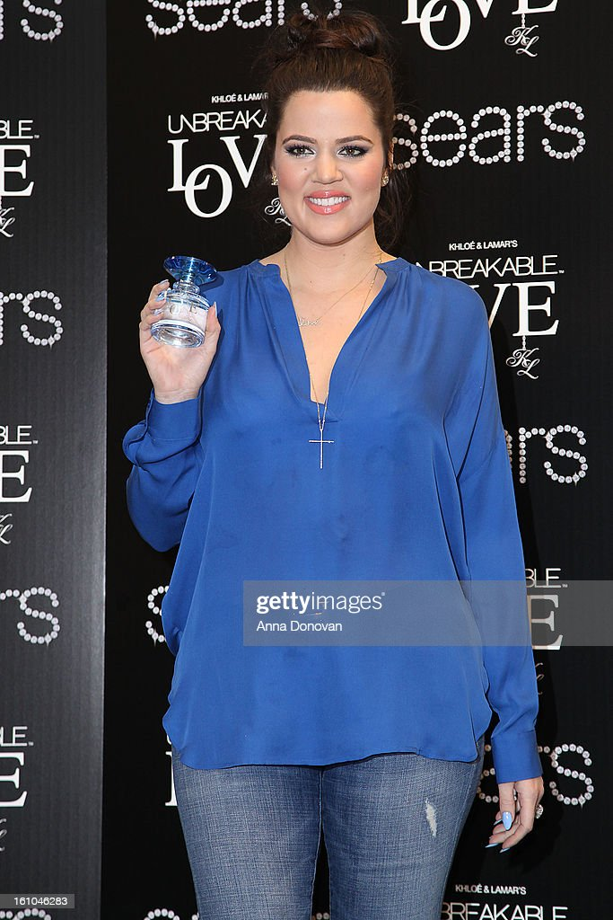 <a gi-track='captionPersonalityLinkClicked' href=/galleries/search?phrase=Khloe+Kardashian&family=editorial&specificpeople=3955023 ng-click='$event.stopPropagation()'>Khloe Kardashian</a> attends the 'Unbreakable Love' fragrance launch with <a gi-track='captionPersonalityLinkClicked' href=/galleries/search?phrase=Khloe+Kardashian&family=editorial&specificpeople=3955023 ng-click='$event.stopPropagation()'>Khloe Kardashian</a>-Odom and Lamar Odom at Sears on February 8, 2013 in Downey, California.
