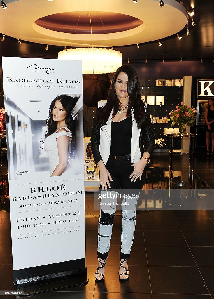 <a gi-track='captionPersonalityLinkClicked' href=/galleries/search?phrase=Khloe+Kardashian&family=editorial&specificpeople=3955023 ng-click='$event.stopPropagation()'>Khloe Kardashian</a> during a special appearance at Kardashian Khaos at The Mirage Hotel and Casino on August 24, 2012 in Las Vegas, Nevada.