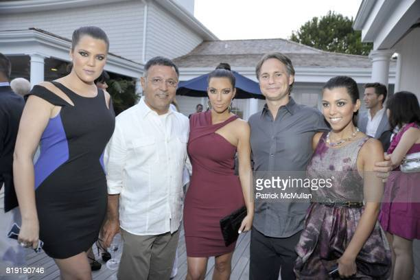 Khloe Kardashian Elie Tahari Kim Kardashian Jason Binn and Kourtney Kardashian attend QVC Style Initiative Dinner hosted by CEO Mike George at the...