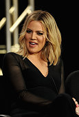 Khloe Kardashian executive producer speaks onstage during FYI Kocktails with Khloe panel during the AE Networks 2016 Television Critics Association...