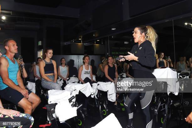 Khloe Kardashian hosts Charity Ride at Cycle House to benefit Children Hospital Los Angeles' Make March Matter Campaign on March 25 2017 in West...