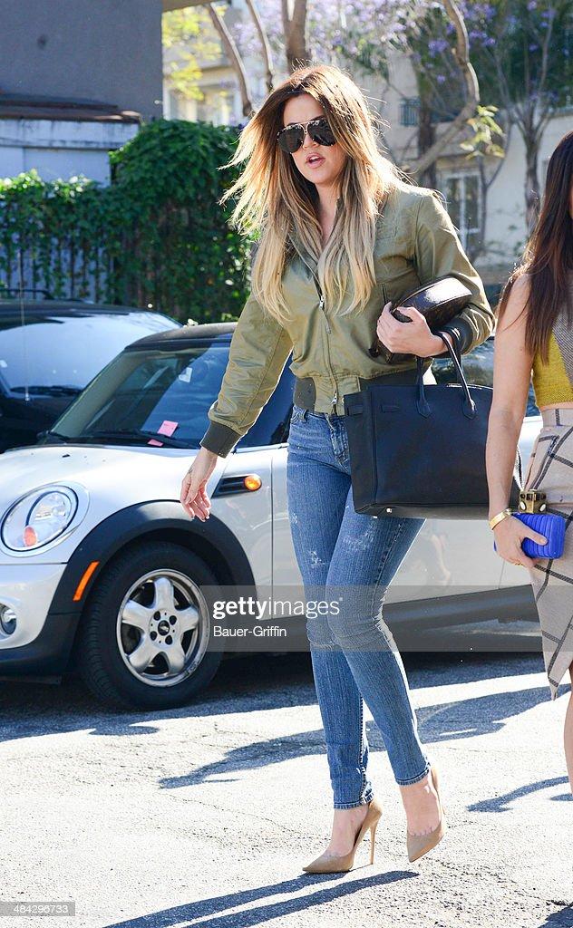 Khloe Kardashian is seen on April 11, 2014 in Los Angeles, California.