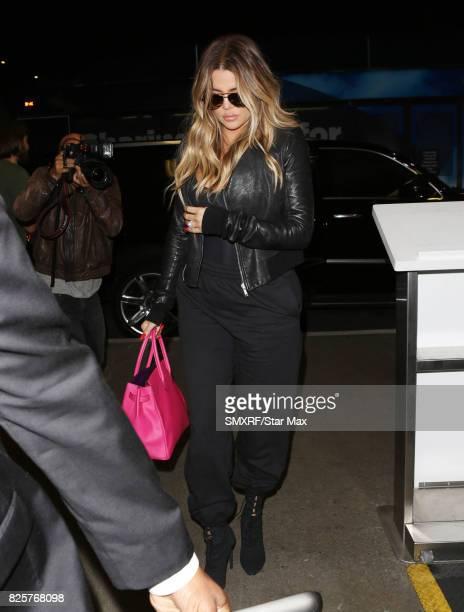Khloe Kardashian is seen on August 2 2017 in Los Angeles California