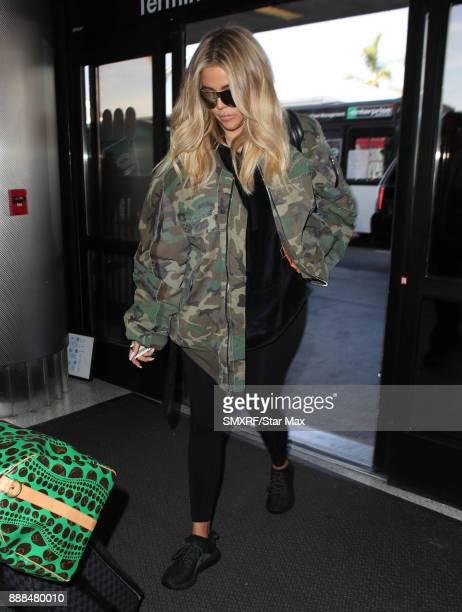 Khloe Kardashian is seen on December 8 2017 in Los Angeles CA