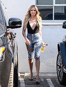 Khloe Kardashian is seen on July 21 2016 in Los Angeles California