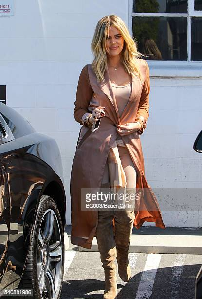 Khloe Kardashian is seen on June 16 2016 in Los Angeles California