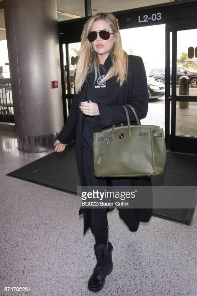 Khloe Kardashian is seen on November 15 2017 in Los Angeles California