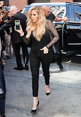 Khloe Kardashian is seen outside Kanye West Yeezy Season 2 New York Fashion Week show at Skylight Modern on September 16 2015 in New York City