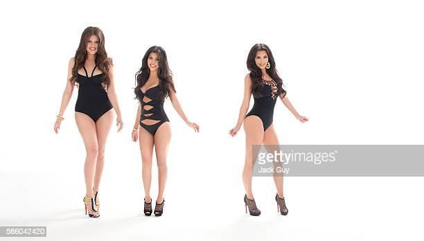 Khloe Kardashian Kim Kardashian and Kourtney Kardashian are photographed for Vegas Magazine in 2010 in Los Angeles California PUBLISHED IMAGE