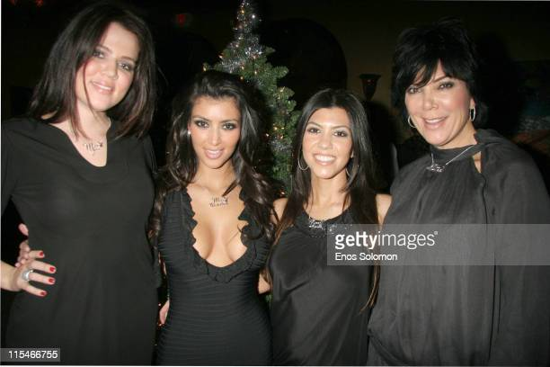 Khloe Kardashian Kim Kardashian Kourtney Kardashian and mother Kris Jenner