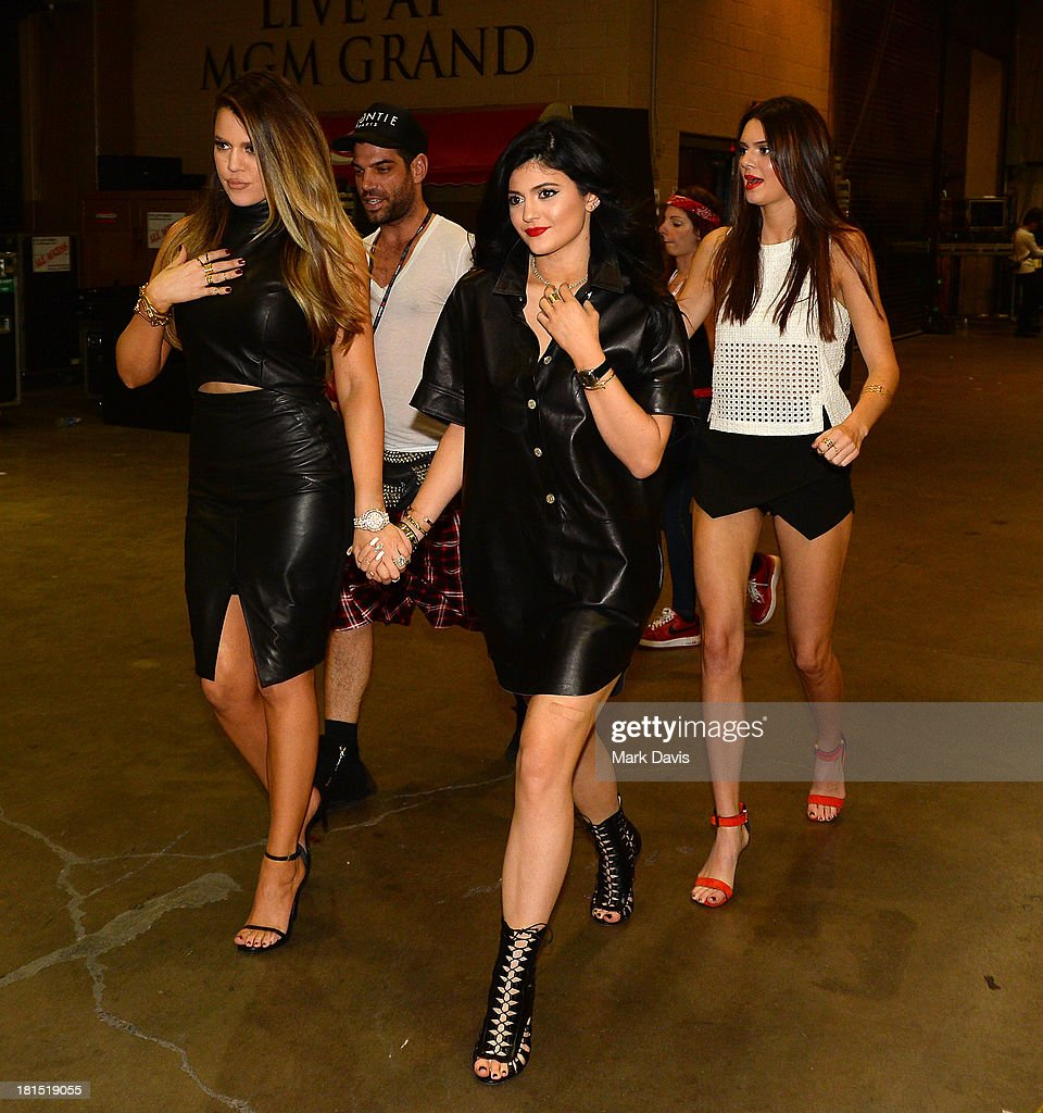 Khloe Kardashian, Kylie Jenner, and Kendall Jenner attend the iHeartRadio Music Festival at the MGM Grand Garden Arena on September 21, 2013 in Las Vegas, Nevada.