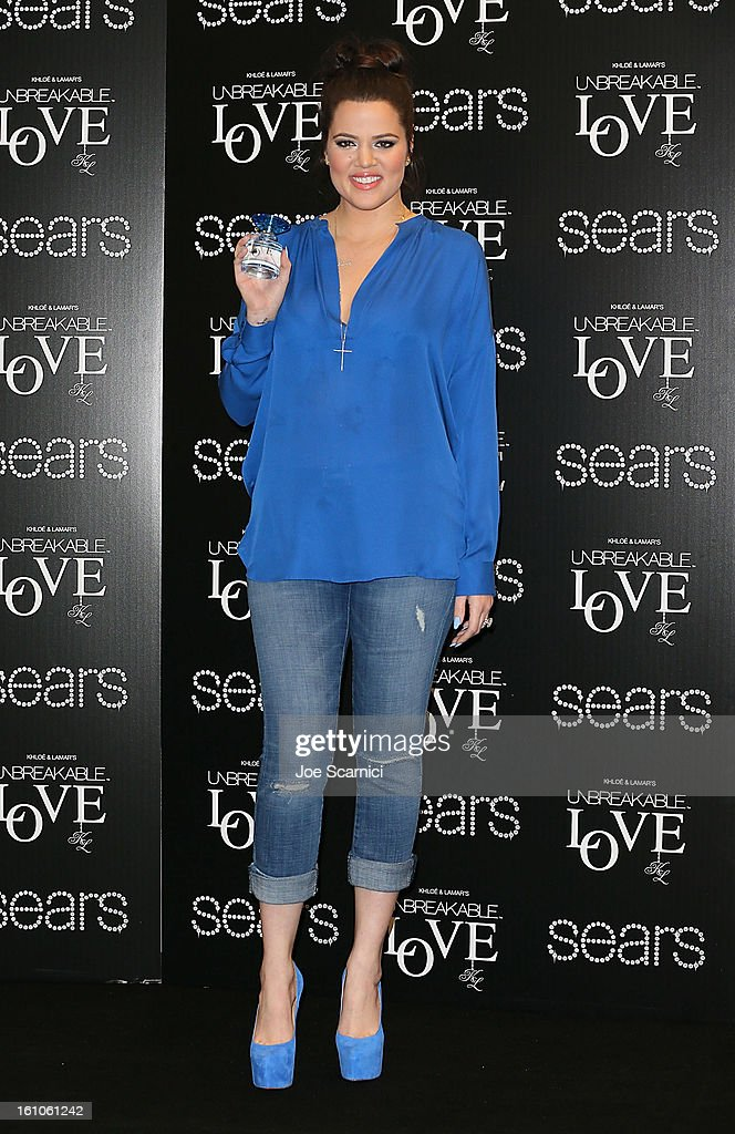 Khloe Kardashian launches 'Unbreakable Love' Fragrance at Sears on February 8, 2013 in Downey, California.