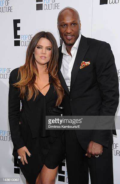 Khloe Kardashian Odom and Lamar Odom of 'Keeping Up With The Kardashians' attend E 2012 Upfront at NYC Gotham Hall on April 30 2012 in New York City