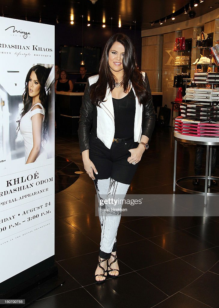 <a gi-track='captionPersonalityLinkClicked' href=/galleries/search?phrase=Khloe+Kardashian&family=editorial&specificpeople=3955023 ng-click='$event.stopPropagation()'>Khloe Kardashian</a> Odom appears at Kardashian Khaos at The Mirage Hotel & Casino on August 24, 2012 in Las Vegas, Nevada.