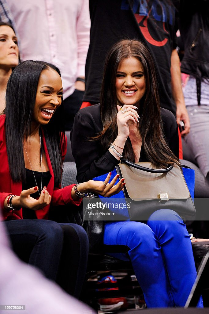 Khloe Kardashian Odom attends a game between the Washington Wizards and Los Angeles Clippers at Staples Center on January 19, 2013 in Los Angeles, California.