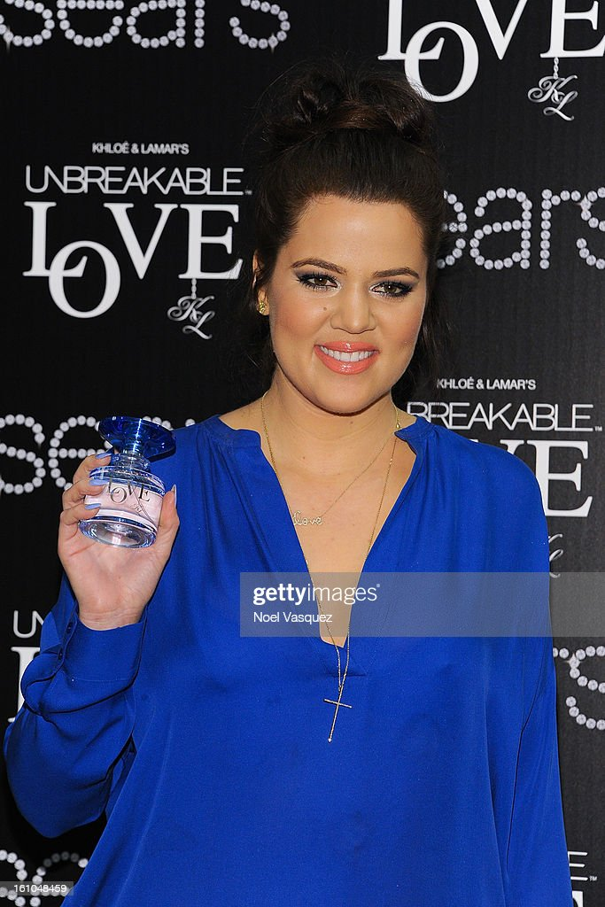 <a gi-track='captionPersonalityLinkClicked' href=/galleries/search?phrase=Khloe+Kardashian&family=editorial&specificpeople=3955023 ng-click='$event.stopPropagation()'>Khloe Kardashian</a> Odom attends the launch of her fragrance 'Unbreakable Love' at Sears on February 8, 2013 in Downey, California.