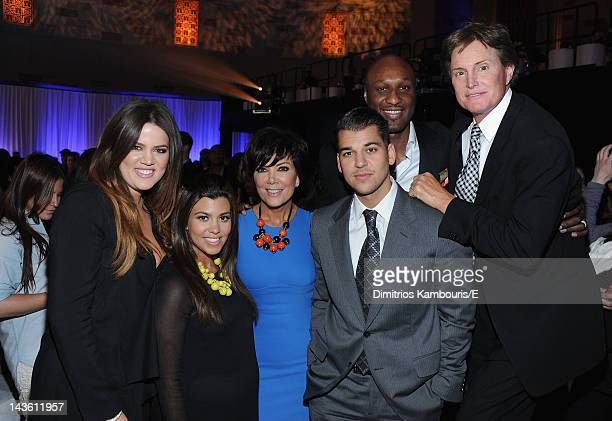 Khloe Kardashian Odom Kourtney Kardashian Kris Jenner Rob Kardashian Lamar Odom and Bruce Jenner of 'Keeping Up With The Kardashians' attend E 2012...
