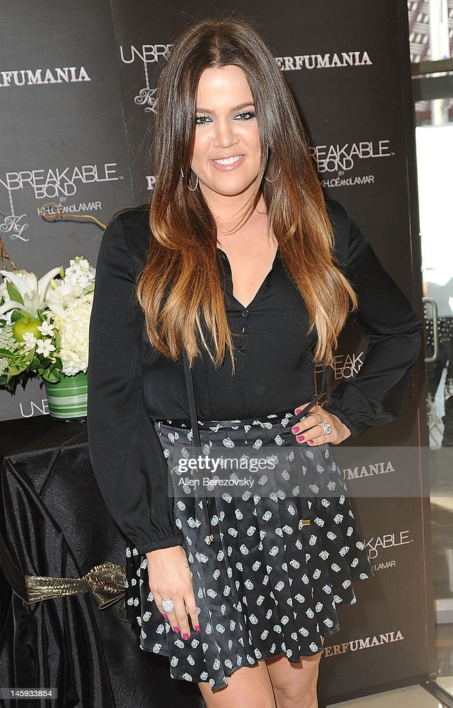 Khloe Kardashian Odom makes a personal appearance to promote her and Lamar Odom's 'Unbreakable Bond' fragrance at Perfumania on June 7, 2012 in Orange, California.