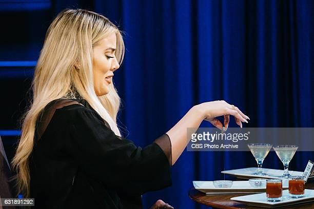 Khloe Kardashian plays Spill Your Guts or Fill Your Guts with James Corden during 'The Late Late Show with James Corden' Wednesday January 11 2017 On...