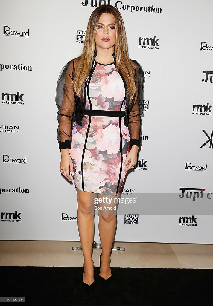 <a gi-track='captionPersonalityLinkClicked' href=/galleries/search?phrase=Khloe+Kardashian&family=editorial&specificpeople=3955023 ng-click='$event.stopPropagation()'>Khloe Kardashian</a> poses at the Kardashian Kollection cocktail party at the Park Hyatt Guest House on November 19, 2013 in Sydney, Australia.