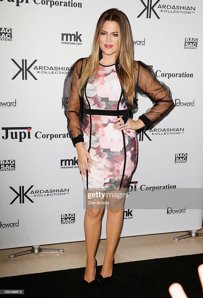 Khloe Kardashian poses at the Kardashian Kollection cocktail party at the Park Hyatt Guest House on November 19, 2013 in Sydney, Australia.