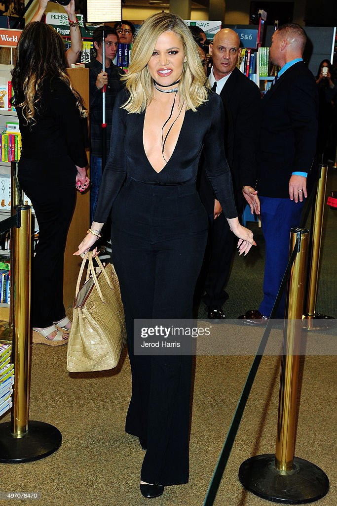 Khloe Kardashian signs copies of her new book 'Strong Looks Better Naked' at Barnes & Noble on November 13, 2015 in San Diego, California.