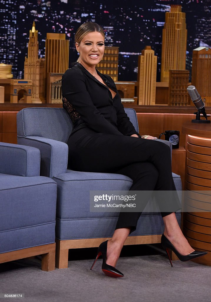 Khloe Kardashian visits 'The Tonight Show Starring Jimmy Fallon'at Rockefeller Center on January 13, 2016 in New York City.