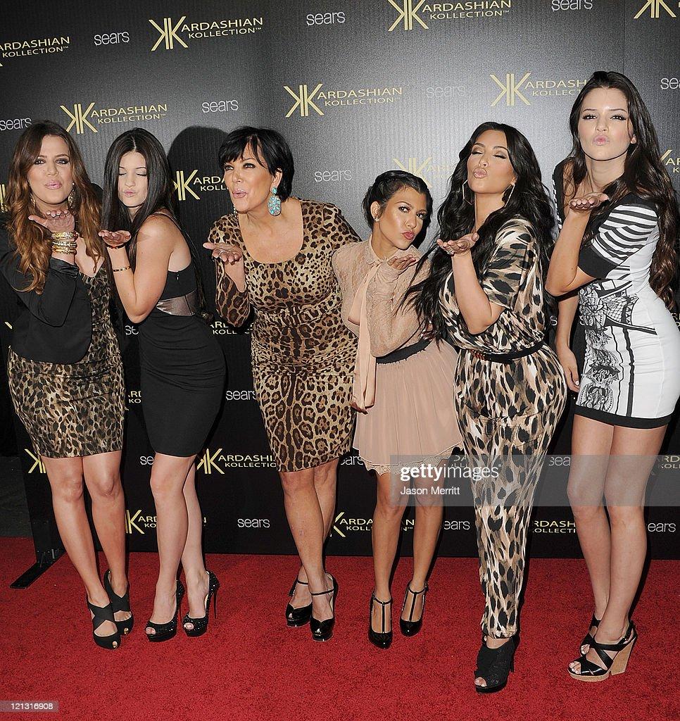 Khloe Kardasian Kylie Jenner Kris Kardashian Kourtney Kardashian Kim Kardashian and Kendall Jenner attend the Kardashian Kollection Launch Party at...