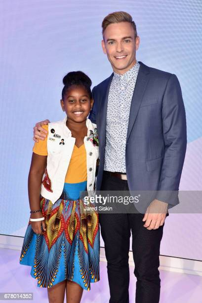 Khloe Thompson and Matt Rodrigues attend POPSUGAR 2017 Digital NewFront at Industria Studios on May 3 2017 in New York City