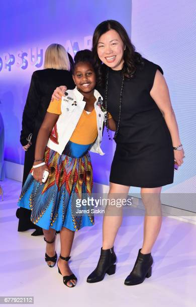 Khloe Thompson and POPSUGAR CMO Anna Fieler attend POPSUGAR 2017 Digital NewFront at Industria Studios on May 3 2017 in New York City