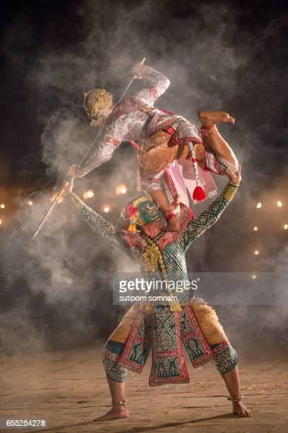 Khon thai performing art of ramayana story dancing
